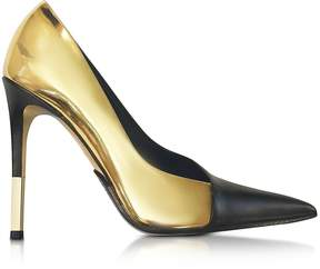 Balmain Agnes Gold Laminated Leather Pump