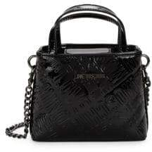 Love Moschino Embossed Logo Patent Leather Crossbody Bag