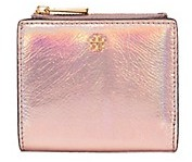 Tory Burch Robinson Metallic Mini Wallet - PINK OPAL - STYLE