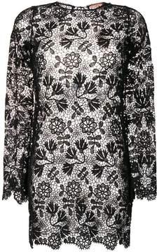 Ermanno Scervino short lace beach dress