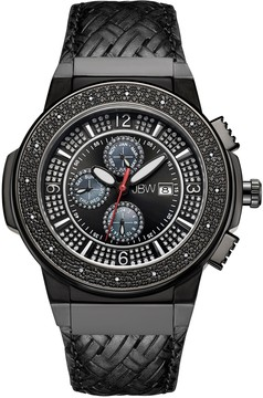 JBW Saxon Crystal Black Dial Men's Watch