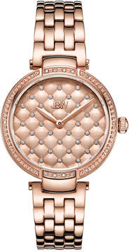 JBW 18 Diamonds At .18ctw Womens Rose Goldtone Bracelet Watch-J6356a