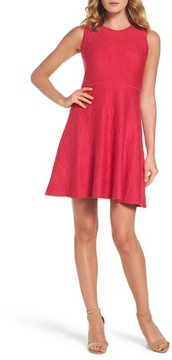 Eliza J Women's Texture Knit Fit & Flare Dress