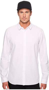 N. nANA jUDY Whitehall Cotton Long Sleeve Shirt with Branded Chest Logo Men's Clothing