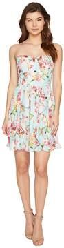 Adelyn Rae Valerie Woven Printed Strapless Dress Women's Dress