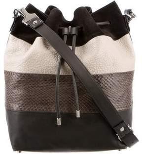 Proenza Schouler Snakeskin-Trimmed Bucket Bag
