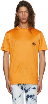 Lanvin Orange Embroidered Dino T-Shirt