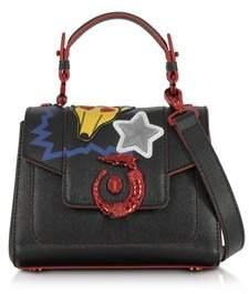 Trussardi Women's Black Leather Handbag.