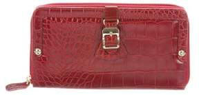 Max Mara Embossed Zip-Around Wallet