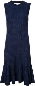 Carolina Herrera sleeveless patterned knit dress, flared skirt