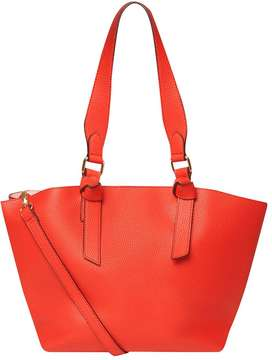 Red Oversized Knot Handle Tote Bag