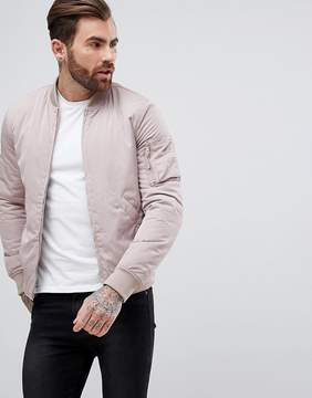 New Look Bomber Jacket With MA1 Pocket In Light Pink