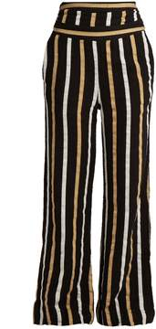 Ace&Jig Dancin striped textured-cotton wide-leg trousers