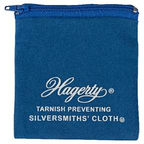 Hagerty 4  x 4 Zippered Jewelry Pouch (Set of 2) made from Hagerty Silversmiths' Cloth with R-22 Tarnish Preventative