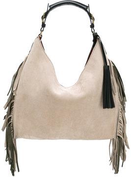 Santoni fringed shoulder bag