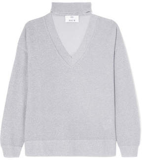 Allude Metallic Wool And Cashmere-blend Sweater - Light gray