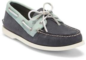Sperry A/O 2-Eye Perforated Navy/Mint Loafer