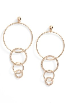 Ettika Women's Dangle Hoop Drop Earrings