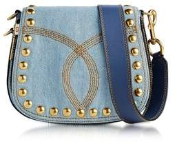 Marc Jacobs Women's Blue Denim Shoulder Bag. - BLUE - STYLE