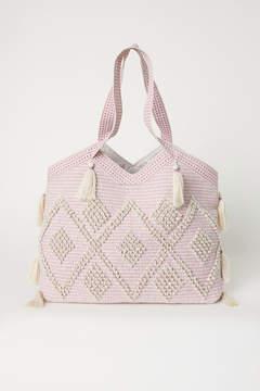 H&M Tasseled Shopper - Pink