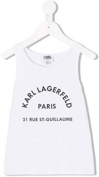 Karl Lagerfeld logo print tank top