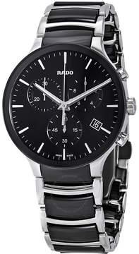 Rado Centrix Chronograph Black Ceramic and Steel Men's Watch
