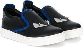 Fendi Kids Monster slip-on sneakers