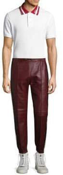 Bally Striped Leather Trousers
