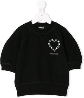 DSQUARED2 studded heart sweatshirt