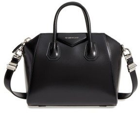 Givenchy Small Antigona Box Leather Satchel - Black