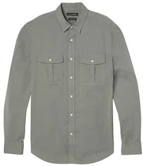 Banana Republic Camden Standard-Fit Stretch-Cotton Double-Pocket Camp Shirt