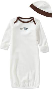 Little Me Baby Boys Newborn-3 Months Cute Puppies Gown & Hat Set