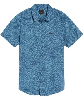 RVCA Men's Grid Woven Shirt