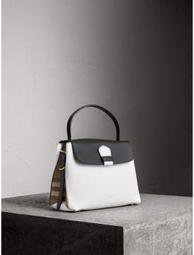 Burberry Medium Two-tone Leather and House Check Tote