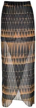 BRIGITTE printed beach skirt