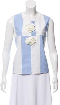 Collection Privée? Striped Sleeveless Top