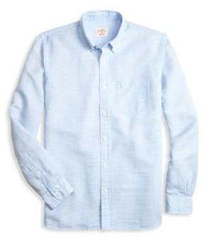 Brooks Brothers Red Fleece Yard Dyed Button-Down Shirt
