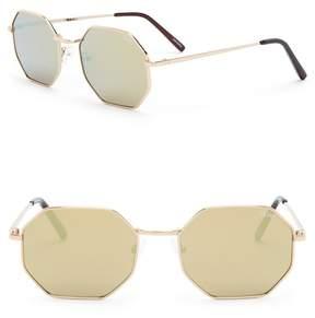 Quay On A Dime 55mm Octagonal Sunglasses