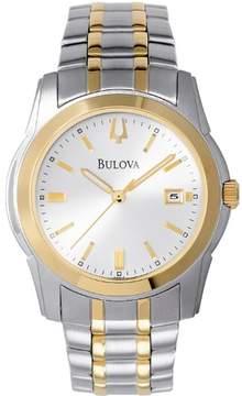Bulova 98H18 Mens Silver & Gold Finish Watch