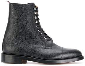 Thom Browne grainy finish lace up boots