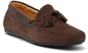 Santoni Chip Suede Tassel Loafer