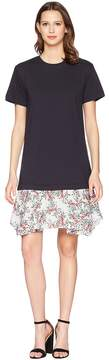 Jil Sander Navy Short Sleeve Jersey T-Shirt Dress Women's Dress