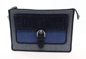 Michael Kors Blue Denim Cooper Medium Zip Wristlet Clutch Purse - BLUES - STYLE