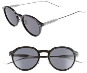 Christian Dior Men's Motion 2 50Mm Sunglasses - Black/ Grey Blue