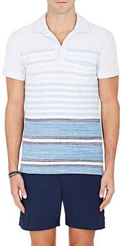 Orlebar Brown Men's Striped Cotton Terry Polo Shirt