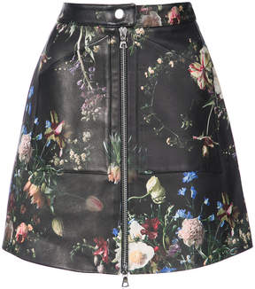 ADAM by Adam Lippes floral print zip detail skirt