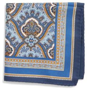 Eton Men's Damask Silk Pocket Square