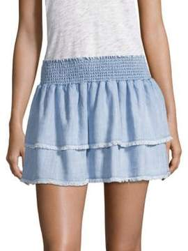 Bella Dahl Smocked Tiered Skirt