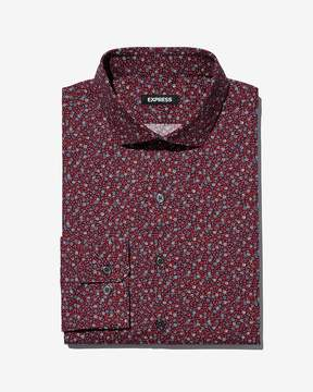 Express Extra Slim Floral Button-Down Dress Shirt