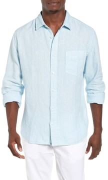 Original Paperbacks Men's Nice Trim Fit Linen Sport Shirt
